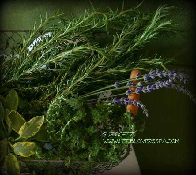 herb harvest basket